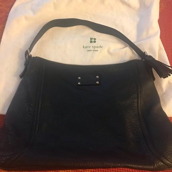 Kate Spade Leather Shoulder Bag w leather tassle